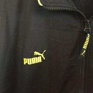 1936c0fd Puma Men's Black and Yellow Zip Up Jacket